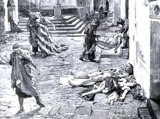 what caused the black death