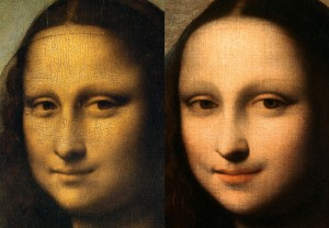 Two Paintings of Mona Lisa