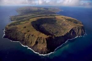 Easter Island in Pacific Ocean