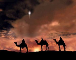 Following Star of Bethlehem