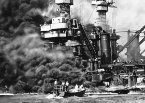 Naval fleet in Pearl Harbor