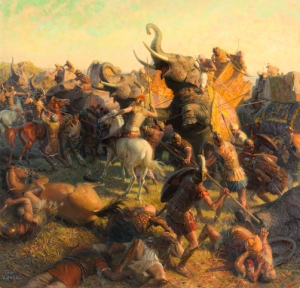 Battle of Hydaspes in India