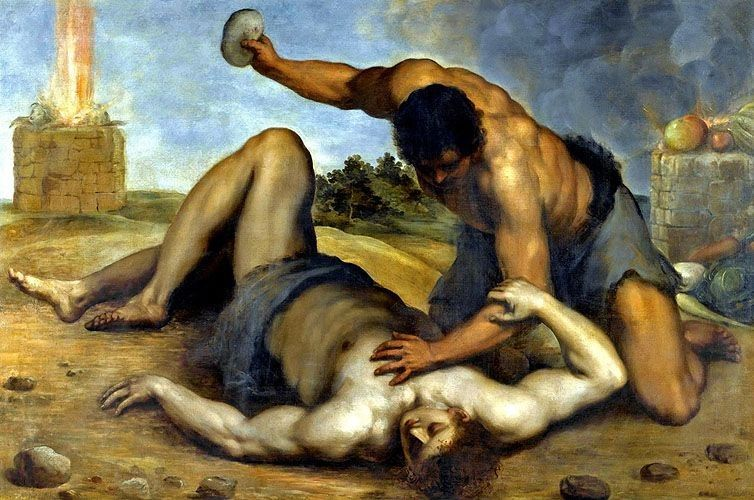 Image result for cain and abel story murder painting