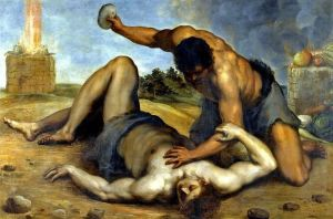 Cain murdering Abel