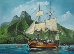 HMS Bounty in Tahiti
