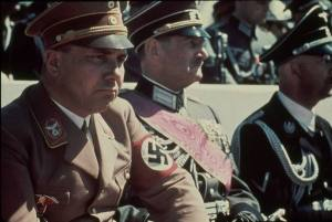 Martin Bormann during a Nazi Parade
