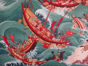 Thousands of Mongol Ships were destroyed by Kamikaze